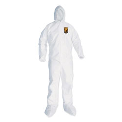 KleenGuard* A35 Coveralls, Hooded, 2X-Large, White, 25/Carton