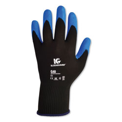 KleenGuard* G40 Nitrile Coated Gloves, 240 mm Length, Large/Size 9, Blue, 12 Pairs