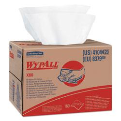 WypAll* X80 Cloths, HYDROKNIT, BRAG Box, White, 12 1/2 x 16 4/5, 160/Box
