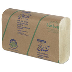 Scott® Multi-Fold Towels, 20% Plant Fiber/Absorbency Pkts,9 2/5x9 1/5, 250/Pk, 16 Pk/CT