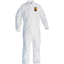 KleenGuard* A40 Coveralls, Elastic Wrists/Ankles, X-Large, White