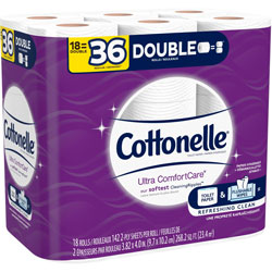 Cottonelle® Bath Tissue, Ultra ComfortCare, 18/PK, White