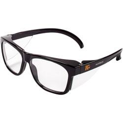 KleenGuard* Maverick Safety Glasses, Black, Polycarbonate Frame, Clear Lens