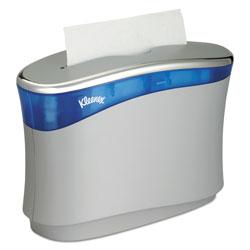 Kleenex Reveal Countertop Folded Towel Dispenser, 13.3x9x5.2, Soft Gray/Translucent Blue