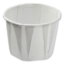 Konie Cups International Paper Souffle Portion Cups, 0.75 oz, White, 250/Sleeve, 20 Sleeves/Carton