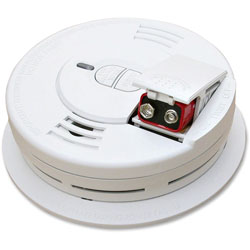 Kidde Safety Front-Load Smoke Alarm w/Mounting Bracket, Hush Feature