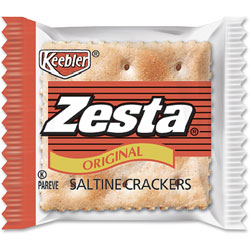 Kellogg's Zesta Saltine Crackers, 2 Crackers/Pack, 300 Packs/Carton