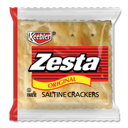 Keebler Zesta Saltine Crackers, 2 Crackers/Pack, 500 Packs/Carton