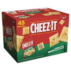 Keebler Cheez-it Crackers, 1.5 oz Bag, White Cheddar, 45/Carton