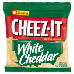 Cheez-It® Cheez-It Crackers, 1.5 oz Single-Serving Snack Bags, White Cheddar, 8/Box