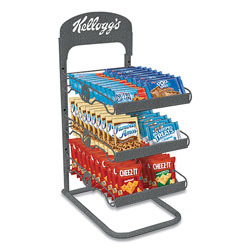 Kellogg's Breakroom Solution Rack with Kellogg's Snack Products, 26.38l x 18.5w x 12.5h