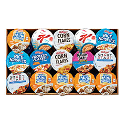 Kellogg's Breakfast Cereal - Single Serve, Classic Assortment, 2.1 oz Cup, 60/Carton