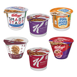 Kellogg's Breakfast Cereal - Single Serve, Classic Wellness Assortment, 2.2 oz Cup, 60/Carton