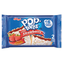 Kellogg's Pop Tarts, Frosted Strawberry, 3.67 oz, 2/Pack, 6 Packs/Box