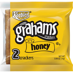 Keebler Honey Graham Crackers, Whole-Grains, 0.49 oz., 200PK/CT