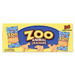 Keebler Zoo Animal Crackers, Original, 2 oz Pack, 36 Packs/Box