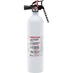 Kidde Safety Kitchen Fire Extinguisher, w/Metal Valve, 2.5lbs, White