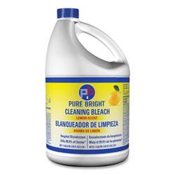 Helix Liquid Bleach, Lemon Scent, 128 oz Bottle, 6/Carton