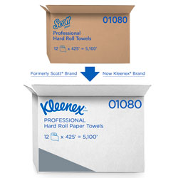 Kleenex Recycled Nonperforated Paper Towel Roll, White