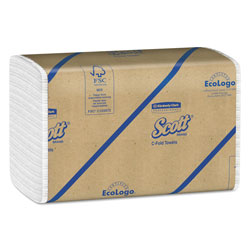 Scott® C-Fold Paper Towels, White
