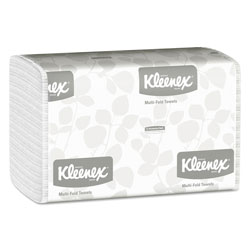 Kleenex Embossed Multifold Paper Towels, White