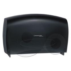 Scott® Cored JRT Jumbo Combo Tissue Dispenser, 20 2/5w x 5 4/5d x 13 1/10h, Smoke/Gray