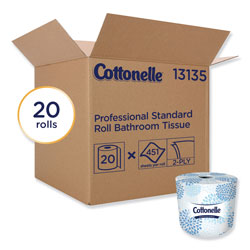 Cottonelle® Two-Ply Bathroom Tissue,Septic Safe, White, 451 Sheets/Roll, 20 Rolls/Carton