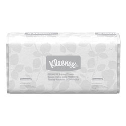 Kleenex Premiere Folded Towels, 9 2/5 x 12 2/5, White, 120/Pack, 25 Packs/Carton