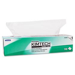 Kimtech* Kimwipes Delicate Task Wipers, 1-Ply, 16 3/5 x 16 5/8, 140/Box