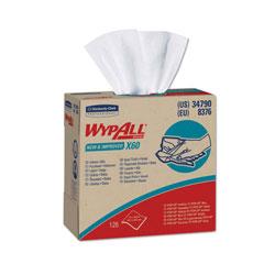 WypAll* X60 Cloths, POP-UP Box, White, 9 1/8 x 16 4/5, 126/Box