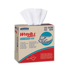 WypAll* X60 Cloths, POP-UP Box, White, 9 1/8 x 16 7/8, 126/Box, 10 Boxes/Carton