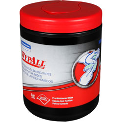 """WypAll* Hand Cleaning Wipes, Pre-Moistened, 12""""x10"""", 50 Wipes"""