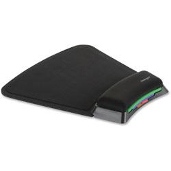 Kensington SmartFit Mouse Pad w/Wrist Rest, Nonskid Base, 10 1/4 x 10.38 x 1.1, Black