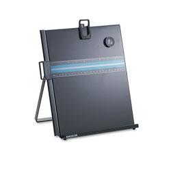 Kensington Letter-Size Freestanding Desktop Copyholder, Stainless Steel, Black