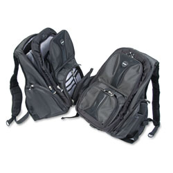 Kensington Contour Laptop Backpack, Nylon, 15 3/4 x 9 x 19 1/2, Black