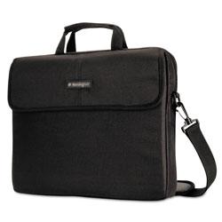 Kensington 15.6 in Simply Portable Padded Laptop Sleeve, Inside/Outside Pockets, Black