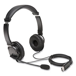 Kensington Hi-Fi Headphones with Microphone, Black