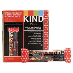 Kind Plus Nutrition Boost Bar, Dk ChocolateCherryCashew/Antioxidants, 1.4 oz, 12/Box