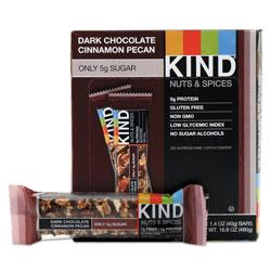 Kind Nuts and Spices Bar, Dark Chocolate Cinnamon Pecan, 1.4 oz, 12/Box