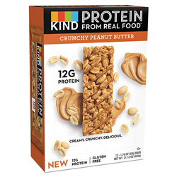 Kind Protein Bars, Crunchy Peanut Butter, 1.76 oz, 12/Pack