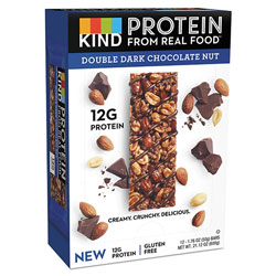 Kind Protein Bars, Double Dark Chocolate, 1.76 oz, 12/Pack