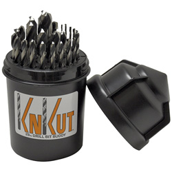 KnKut 29 Piece Drill Buddy Jobber Length Drill Bit Set with 3/8 in Reduced Shank