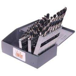 KnKut 29 Piece Fractional Jobber Length Drill Bit Set