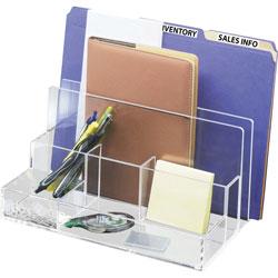 Kantek Acrylic Desk Organizer, File Sort, 10-3/5 inX11 inX6-1/2 in , Cl