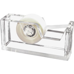 "Kantek Clear Acrylic Tape Dispenser, Holds Tape Roll up to 3/4"" Wide"