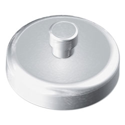 Kantek Mounting Magnets for Glove and Towel Dispensers, 1.5 in Diameter, White/Silver, 4/Pack