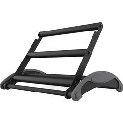 Kantek Footrest, Sit-Stand, 18 inX14-1/4 inX4 in , Bk