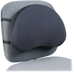 Kantek Deluxe Back Support, 15 1/2w x 3d x 11h, Black