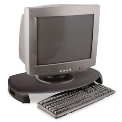 Kantek CRT/LCD Stand with Keyboard Storage, 23 x 13 1/4 x 3, Black