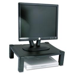 Kantek Single Level Height-Adjustable Stand, 17 x 13 1/4 x 3 to 6 1/2, Black